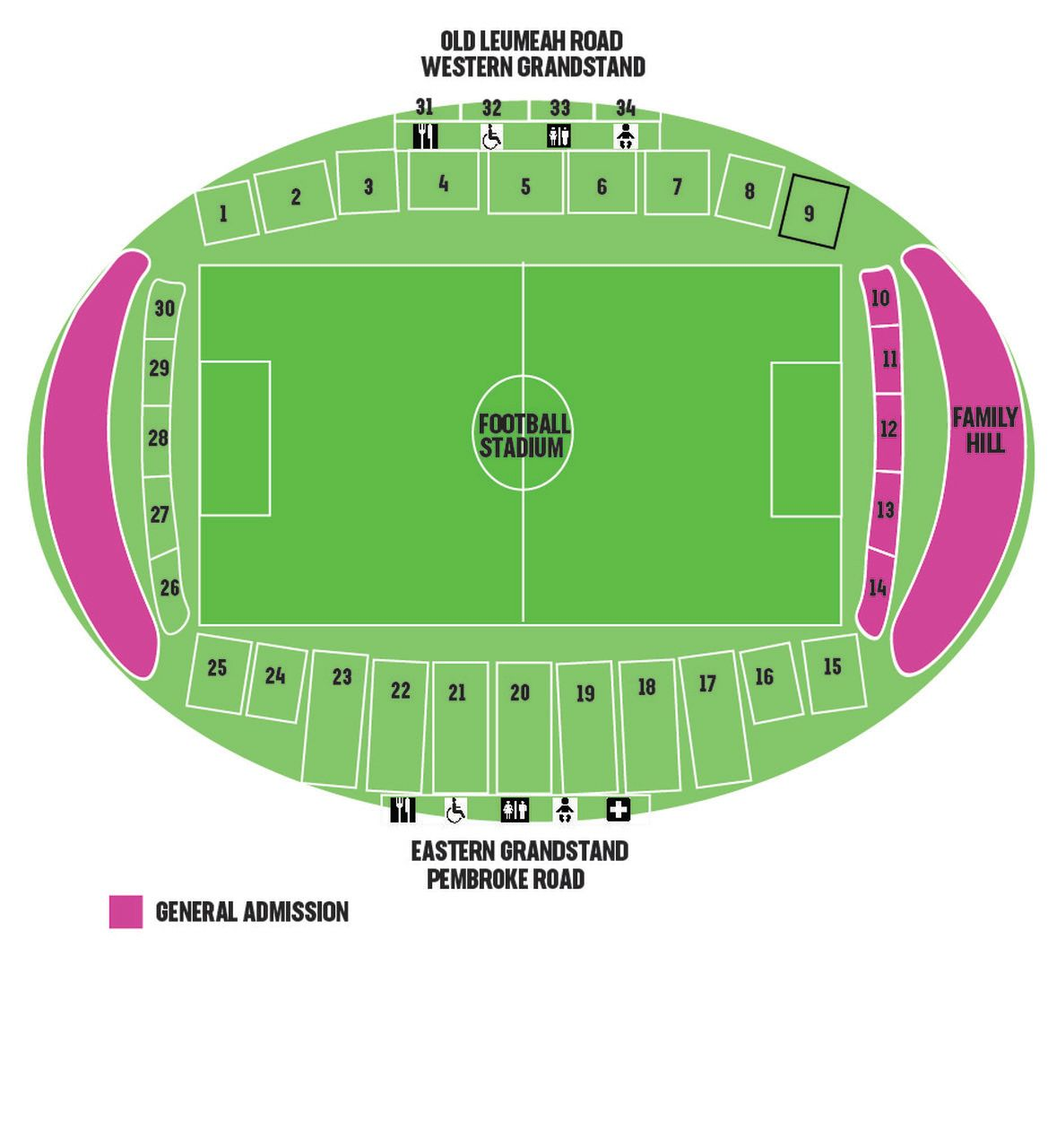General Admission Venue Map